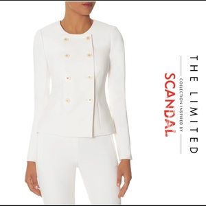 The Limited Scandal white button up blazer.
